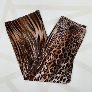 Joseph Ribkoff Pants - Joseph Ribkoff Animal Print Wide Leg Pants 12
